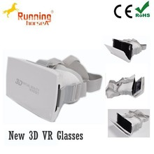 OEM google cardboard box for 4.7-6 inches smartphone blue film sex video cardboard for 3D glasses