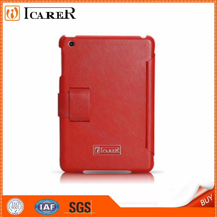 cas simple rouge et l'honneur de conception haut de gamme pour l'ipad mini-