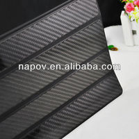 Hot sell for 3k carbon fiber case for ipad 4, carbon for ipad smart case