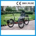 renacuajo coche de turismo triciclo yacente triciclo para adultos en venta