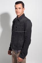 Men's Denim Jacket/ Denim Coat/Black middle blue light blue men casual denim jackets