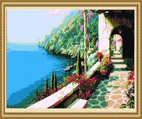 40*50cm beautiful sea scenery painting, scenery oil painting adult picture