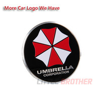 Aluminum 4 pcs Cambered Surface car wheel center caps emblem decal sticker with umbrella design