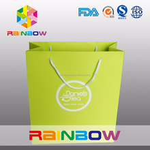 2015 Custom printing luxury paper bag for cloth and shopping(factory sale price) with handle