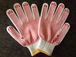 goalkeeping gloves palm pvc dotted work gloves