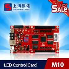 sales card for led screen to show digital or analog clock, pictures, videos with USB ports and LAN port