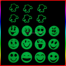 smile face night glowing luminous sticker