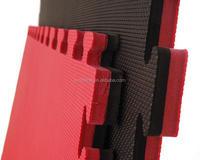 Factory whole sale good quality no holes red/black eva mat for judo taekwondo akido 20mm 25mm 30mm 40mm