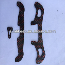 Custom-made Full carbon black color red and twill weave matte RC MINI 4WD part