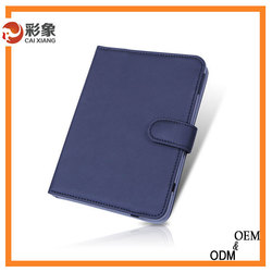 2015 Business genuine Leather Smart Stand Case Cover For iPad mini 3