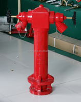 "4"" 2 way ground pillar fire hydrant"