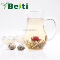 100% handmade high quality blooming flower green tea F17