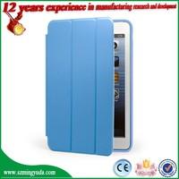 Factory smart cover case For iPad mini , magnetic pu leather case For iPad mini Case