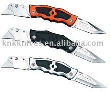 twin blade folding foldable pocket utility knife box cutter with change blade