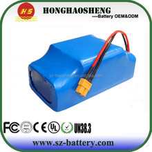 Two wheel vehicle self balancing scooter li-ion battery 36v 4.4ah 158W 10s2p lithium battery pack