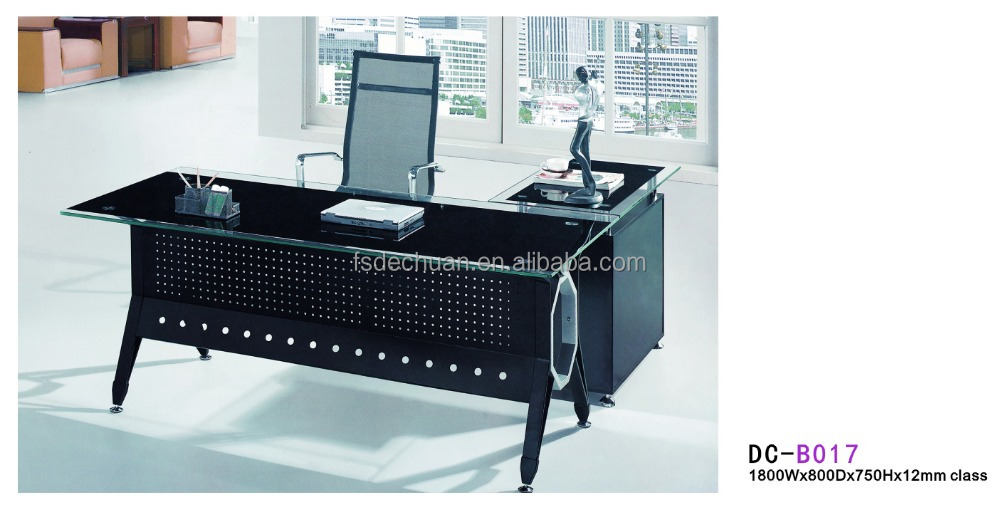 Simple Office Computer Table Design : Modern simple tempered glass computer desk /office table design DC ...