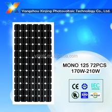 175w solar panel monocrystalline certificated TUV/CE/CEC/IEC