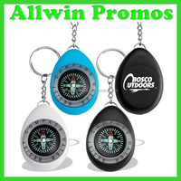 Promotional Customized Oval Compass Keychain