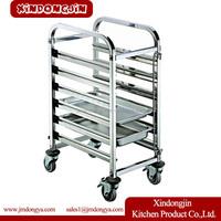 TR-6D stainless steel kitchen trolley, Bread Oven Baking Trolley, Stainless Steel Baking Trolley