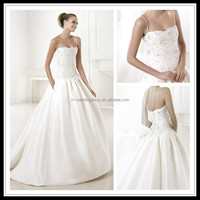 Strapless Lace Beaded heavy beading wedding dresses FXL-325