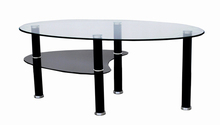 Round extending black glass dining table and chair, round coffee table ottoman