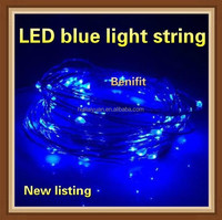 NEW BEST LED copper wire light string/ Blue copper wire light chain / Unique outdoor Christmas lights