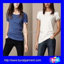 OEM blank designer t-shirts cheap short sleeve t-shirts cotton lycra women tshirts