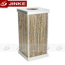 Wooden Squared Ashtray Trash Bin/Indoor Waste Bin
