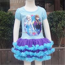 Nuevo estilo bebé del baile del ballet desgaste, bebé mini vestido del tutú, cute girl traje del ballet