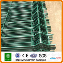 Alibaba China Green galvanized curved metal wire mesh fence
