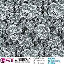 M8008 hot sale Fujian Fuzhou Grand Slam 150cm White Eco-Friendly Knitted Mesh Nylon lace fabric stores in china