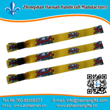 eco-friendly fabric festival wristband for tickets fine china wholesale bands promotion custom printed bracelet