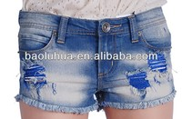 Professional Jeans Manufacturer in China Hotsale Sexy Women Shorts