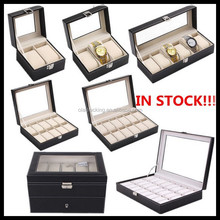 2 Slots,3 Slots,6 Slots,10 Slots,12 Slots,20 Slots,24 Slots Stock Leather Watch Box,Stock Watch Case