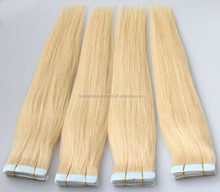 Alibaba express Wholesale top quality virgin remy hair super thin tape hair extension