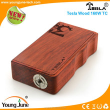 2015 new arrival electronic cigarette vaporizer wholesale 160w wood box mod accept paypal with top design temperature control