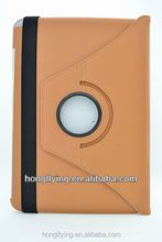PU leather tablet cover for iPad 5 rotatable case