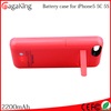For iphone charger case 2200mah Battery case for iphone 5 External backup battery charger case for iphone 5