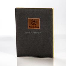 customized high-end five star hotel leather accessories menu folder (BSD8570)