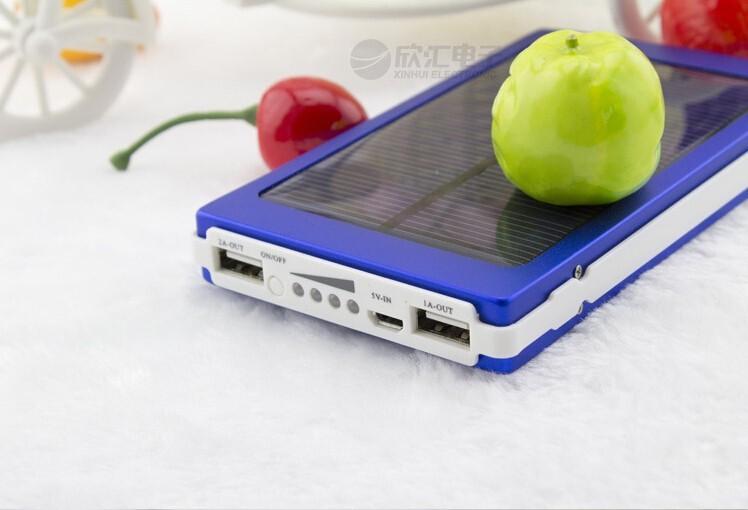 Мобильный блок питания 30000mah энергосберегающие Солнечный заряжатель 2 порта внешняя батарея пакет банка мощность для мобильных телефонов iphone 4 портативные