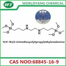 Worldyang N,N'-Bis[3-(trimethoxysilyl)propyl]ethylenediamine;cas no 68845-16-9;colorless liquid