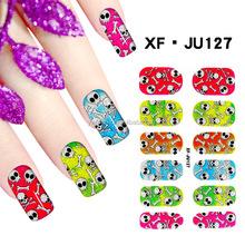 Hot selling glitter nail art sticker, sunny color glitter sticker for nail art