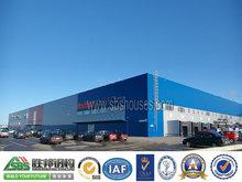 bajo costo de estructura modular de acero de vivienda prefabricada de compras centro comercial