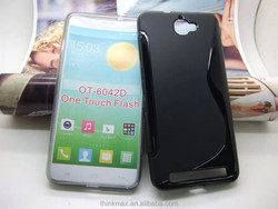 Silicone soft gel tpu back cover case for Alcatel one touch flash 6042d