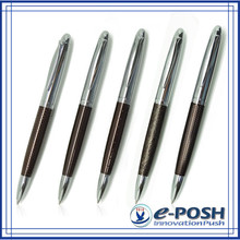 metal parker refill Chocolate oem quality electric engrave plating hotel ball point pen