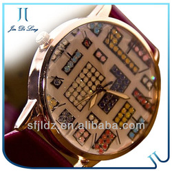 2013 Beautiful Stone Decorated Women Watches wrist watch with flash drive