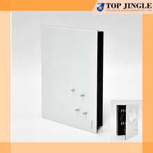 Hot Sale Square Wall Mounted Storage White Metal Key Box