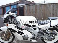 motorcycle bodykit for yamaha FZR400 1987 1986 1988 FZR400 86 87 88 white