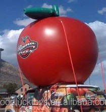 2015 Hot sale giant inflatable apple for advertising