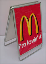 PB09 round corner aluminum snap open iron sign a frame, billboard signs
